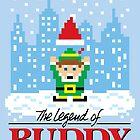 The Legend of Buddy (STICKER) by mikehandyart