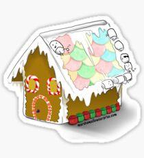 Gingerbread Marshmallow House Sticker