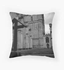 The Cross At Exeter Cathedral Throw Pillow