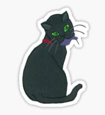 Cat with toy fish Sticker