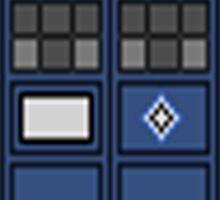 Pixel tardis Sticker