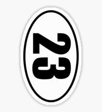 23 Skiddoo - European Style Country Code Sticker Sticker