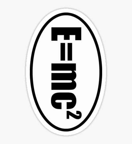 E=mc2 - European Style Oval Country Code Sticker Sticker