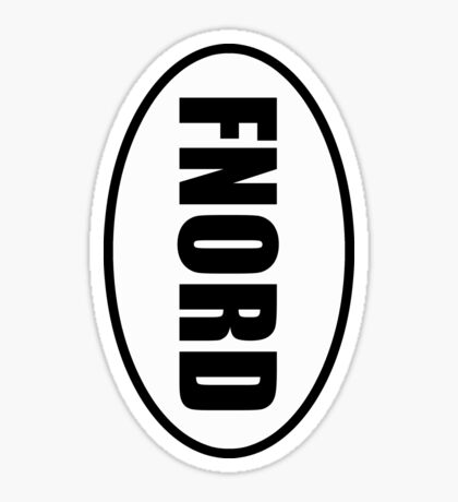 fnord - European Style Oval Country Code Sticker Sticker