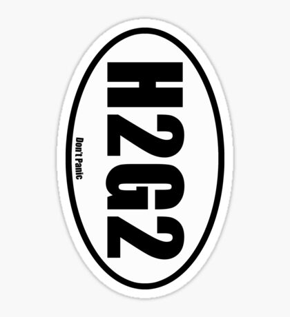 H2G2 - European Style Oval Country Code Sticker Sticker