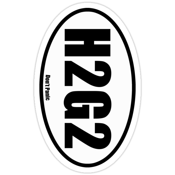 H2G2 - European Style Oval Country Code Sticker by fohkat
