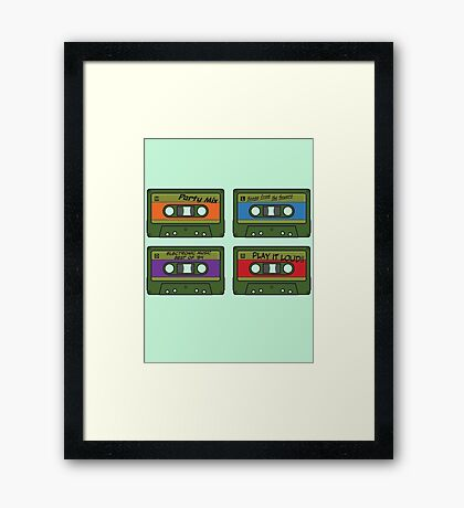 Teenage Mix Tapes Framed Print