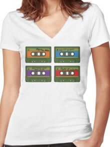 Teenage Mix Tapes Women's Fitted V-Neck T-Shirt