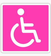 Hot pink disabled symbol stickers, square with rounded corners Sticker