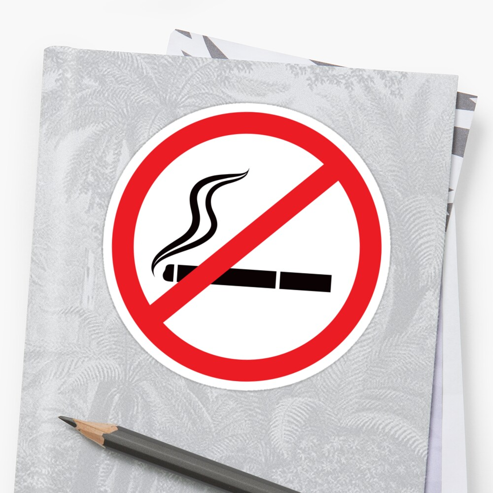 No Smoking Symbol Stickers Black And Red Stickers By Mhea Redbubble