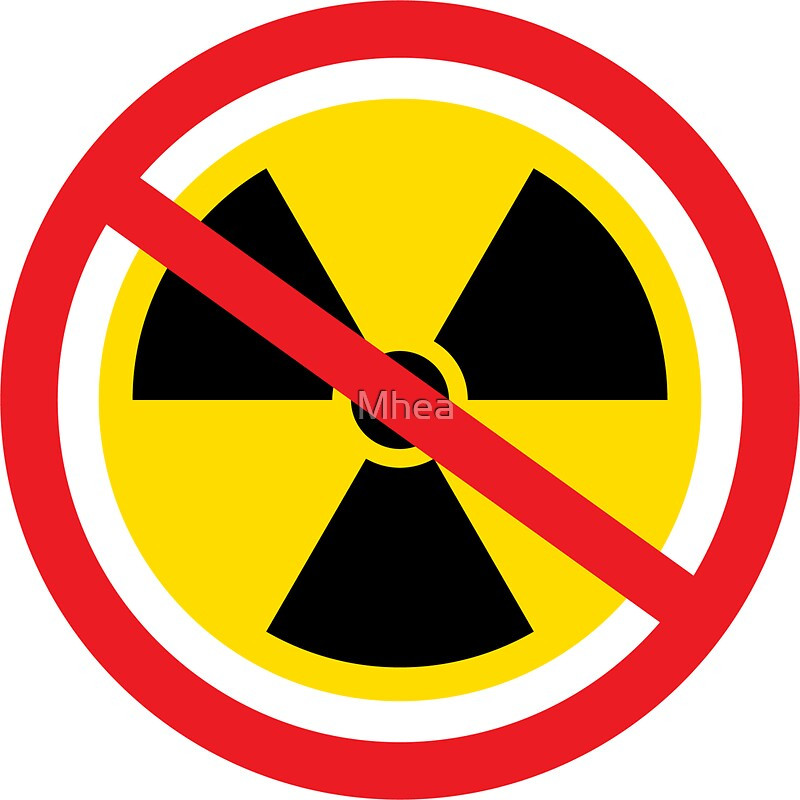 No Nuclear Radiation Symbol Stickers By Mhea Redbubble