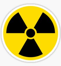 Nuclear radiation symbol Sticker