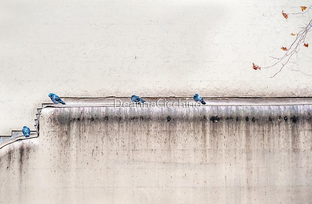 The Four Blue Birds by DeannaCicchino