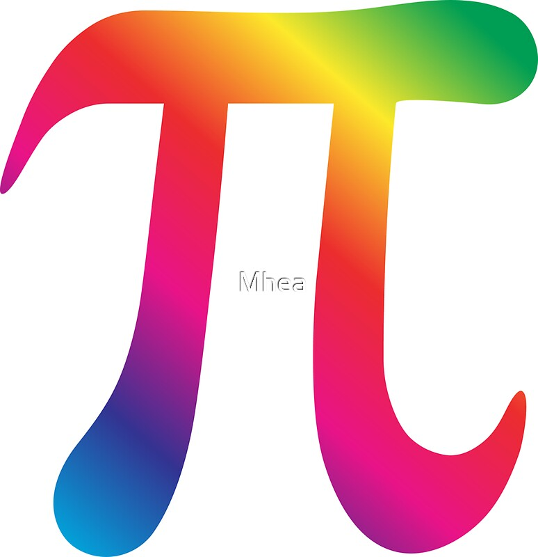 Colorful Pi Symbol Stickers By Mhea Redbubble