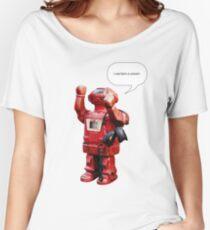 Bibot Robot- i was born a unicorn Women's Relaxed Fit T-Shirt