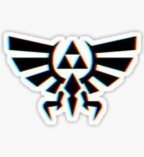 Hylian Crest 3D Sticker