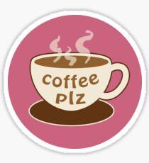 coffee plz large Sticker