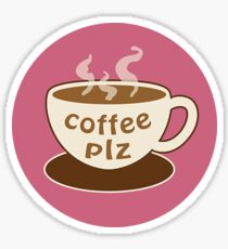 coffee plz Sticker
