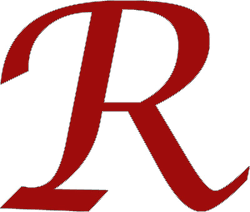 """Calligraphy Letter ""R"""" Stickers by Richard Heby 
