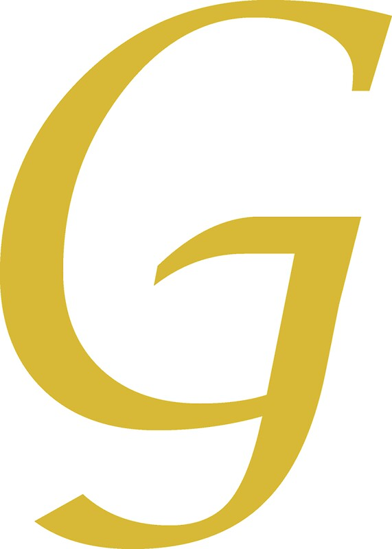 Quot calligraphy letter g stickers by richard heby redbubble