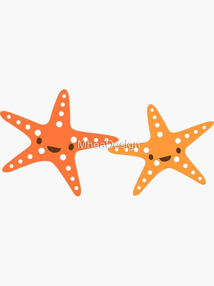 Cute, kawaii starfish animal cartoon sticker by MheaDesign