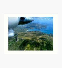 View from an Islander over Great Barrier Island, New Zealand.....! Art Print