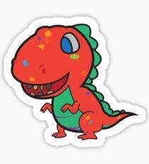 Messy Dino Sticker