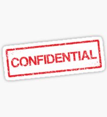 Confidential red grunge stamp sticker Sticker