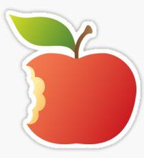 Red apple with bite sticker Sticker