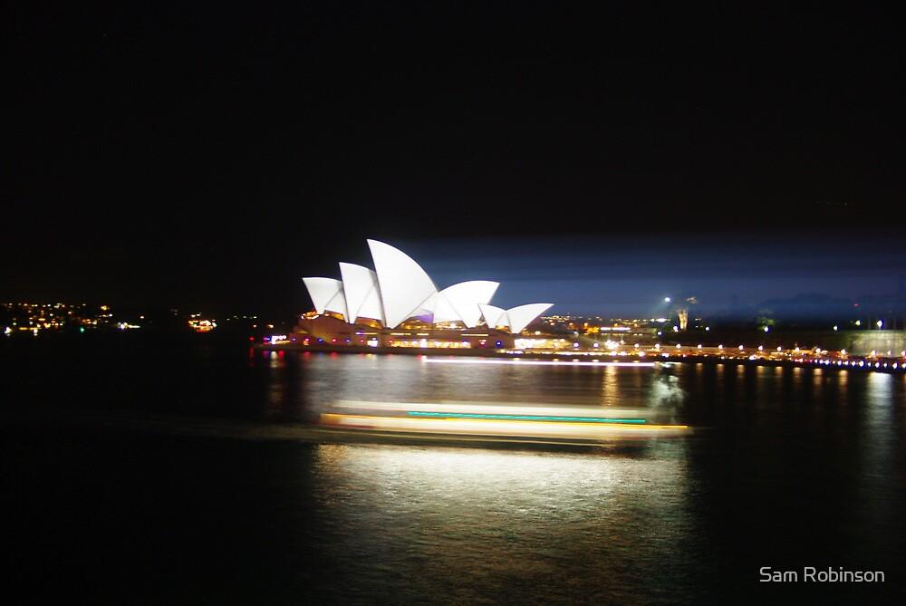 Vivid Opera house by Sam Robinson
