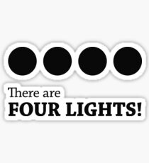 There are FOUR LIGHTS! (Black Ink) Sticker