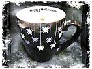 Happy Halloween Card - Black Spider Mug by MotherNature