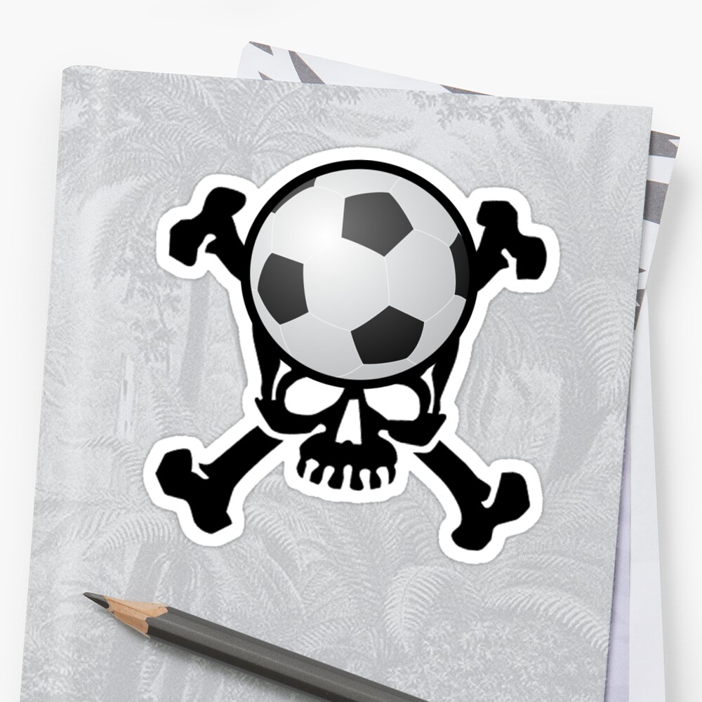 Quot Soccer Skull Quot Sticker By Shakeoutfitters Redbubble