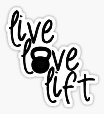 Pegatina Live, Love, Lift - Kettlebell