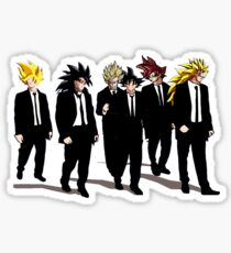 The Many Forms of Goku Sticker