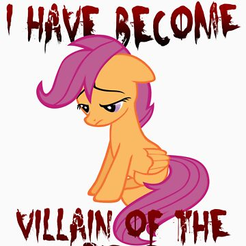 Scootaloo Villain of the Piece by sirhcx