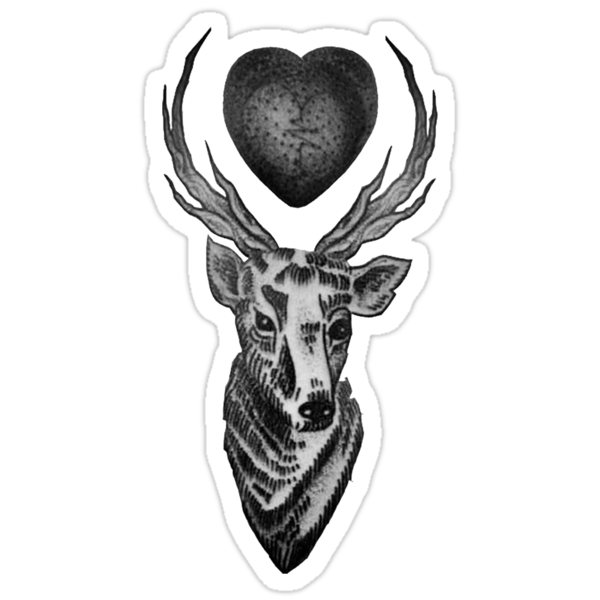Quot Louis Tomlinson Stag Tattoo Quot Stickers By Rebeccab27