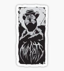Death Metal Fozzie Muppets Sticker