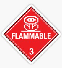 Flower Power Flammable Placard Sticker