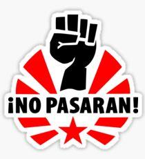 No Pasaran Stickers Sticker