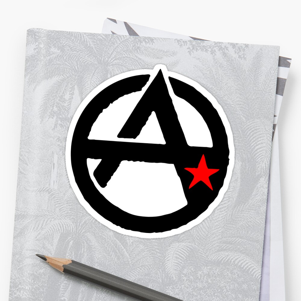 Anarcho-Communist Symbol Stickers by NeoFaction