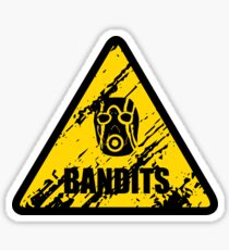 Bandit Warning Sign Sticker