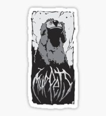 Death Metal Rowlf Muppets Sticker