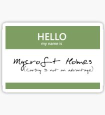 Mycroft Holmes Name Tag Sticker