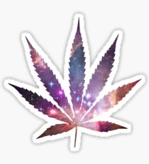 Space Pot Leaf Sticker