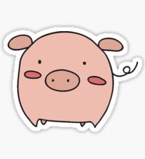 Little Pink Piggy Sticker