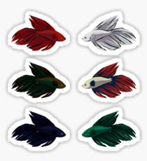 Veiltail Betta (set of 6) Sticker