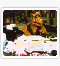 Alf Genius At Work Sticker