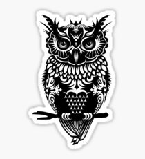 A dark owl  Sticker