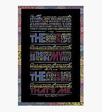 Phenomenal Woman By Maya Angelou - Typographic Poster Photographic Print